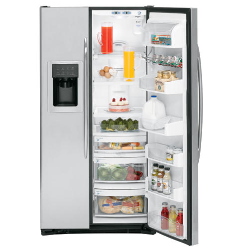GE Profile™ ENERGY STAR® 23.1 Cu. Ft. Stainless Side-By-Side Refrigerator with Dispenser