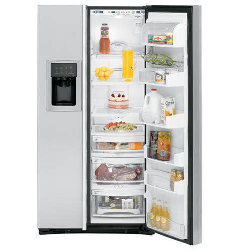 GE Profile™ ENERGY STAR® 24.6 Cu. Ft. Stainless Side-By-Side Refrigerator with Dispenser