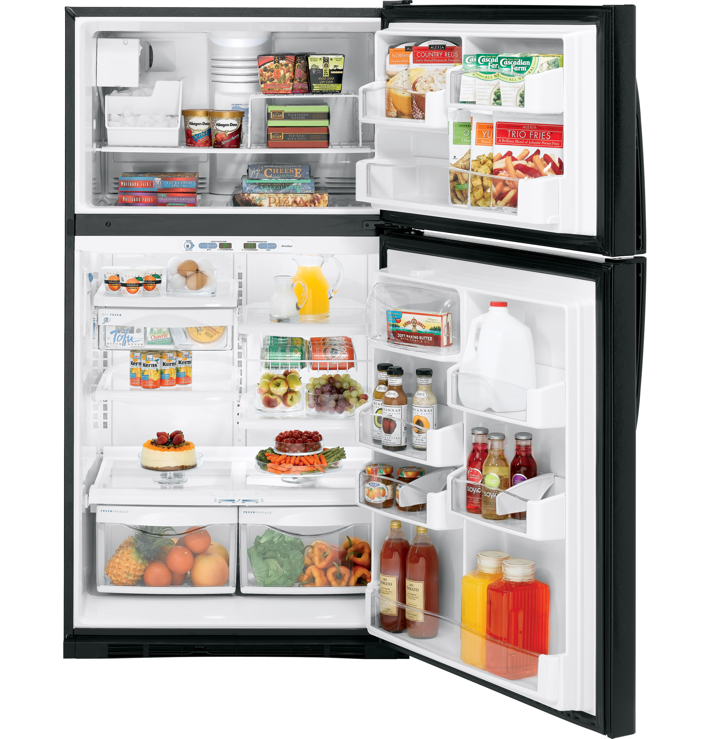 "ge profileâ""¢ 21 7 cu ft top zer refrigerator internal product image product image"
