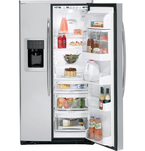 GE Profile™ ENERGY STAR® 25.5 Cu. Ft. Stainless Side-by-Side Refrigerator with Dispenser
