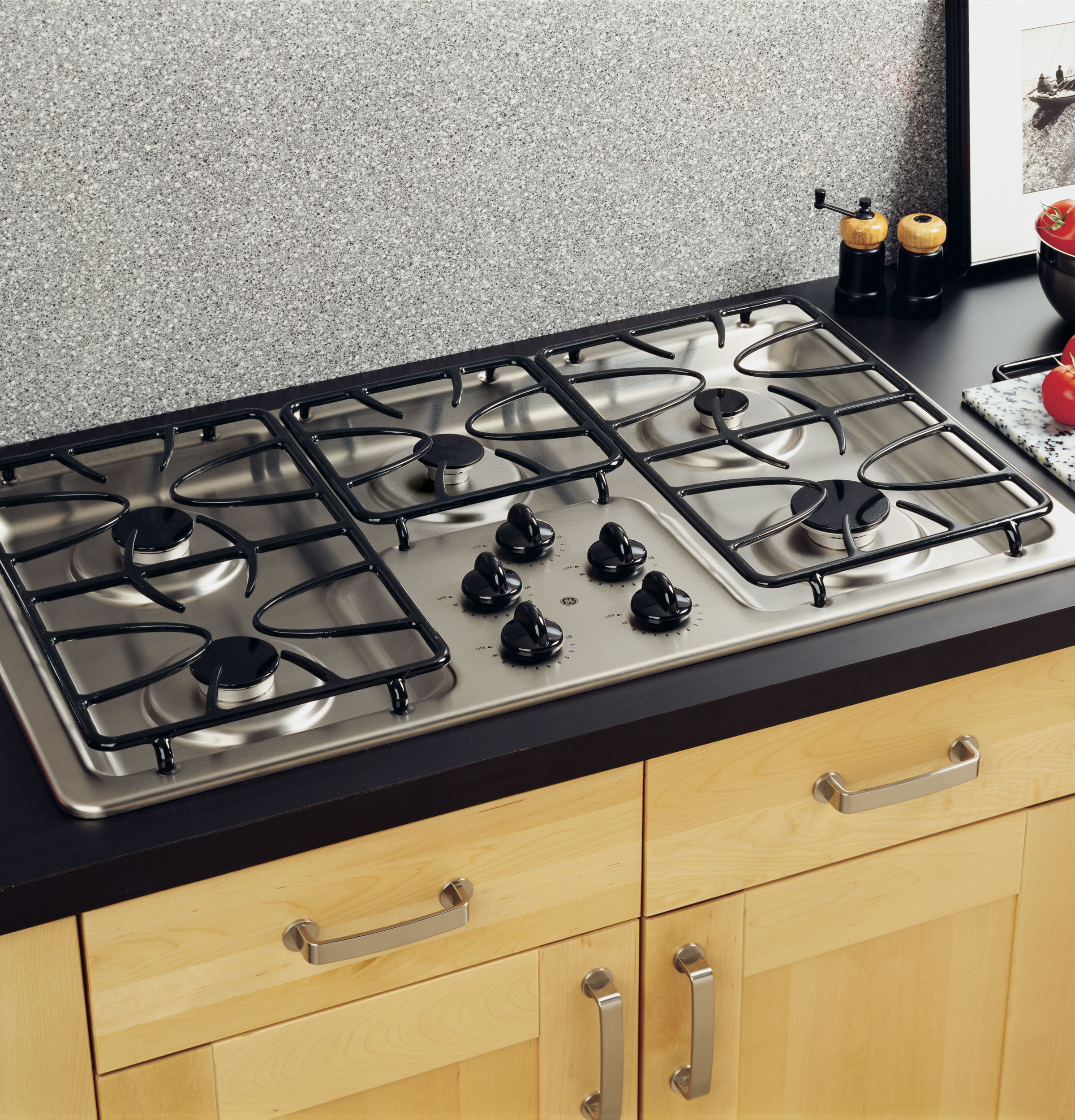 Built In Ge Cooktops ~ Ge quot built in gas cooktop jgp sekss appliances