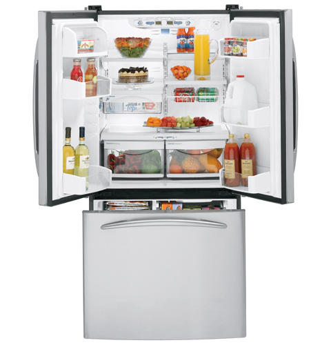 GE Profile™ 22.2 Cu. Ft. Stainless Bottom-Freezer Refrigerator with Internal Dispenser