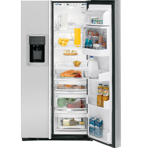 GE Profile™ ENERGY STAR® 22.6 Cu. Ft. Stainless Side-By-Side Refrigerator with Dispenser