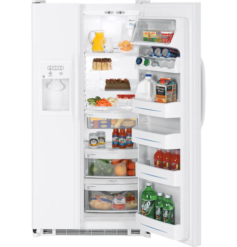 GE® 25.4 Cu. Ft. Capacity Side-By-Side Refrigerator with Dispenser