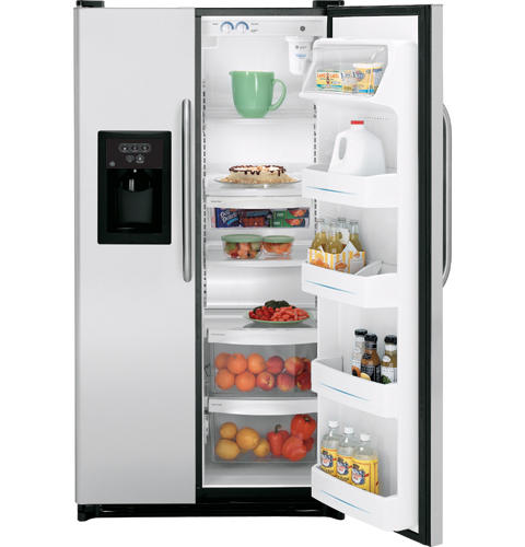 GE® 25.0 Cu. Ft. Stainless Side-By-Side Refrigerator with Dispenser