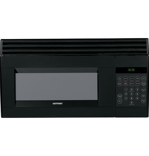Hotpoint® 1. 5 cu. Ft. Over-the-range microwave oven | rvm1535dmbb.