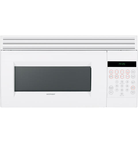 Hotpoint® 1. 5 cu. Ft. Over-the-range microwave oven | rvm1535dmww.