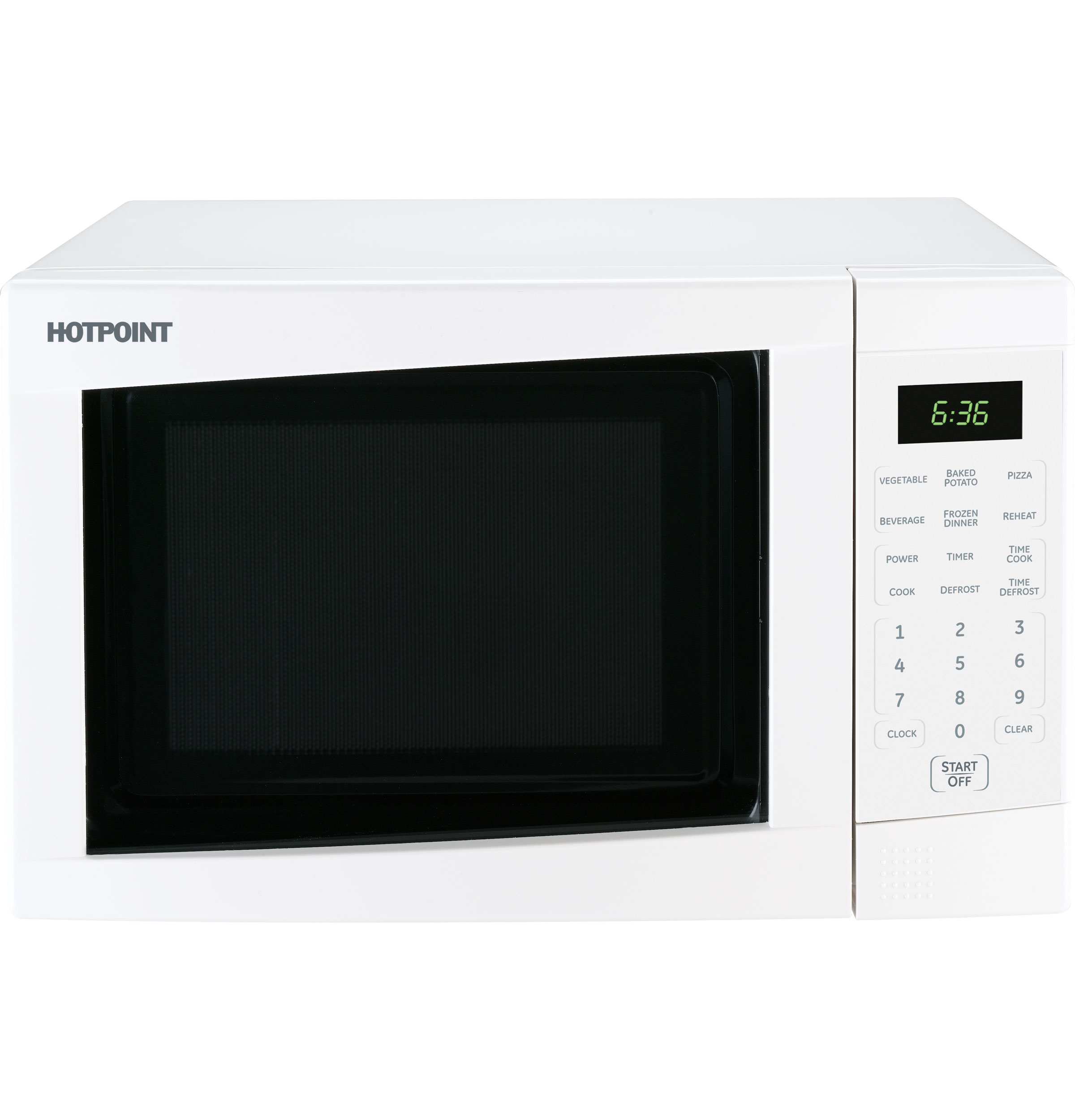 Hotpoint Countertop Microwave : JES636WK - Hotpoint? Countertop Turntable Microwave Oven - The ...