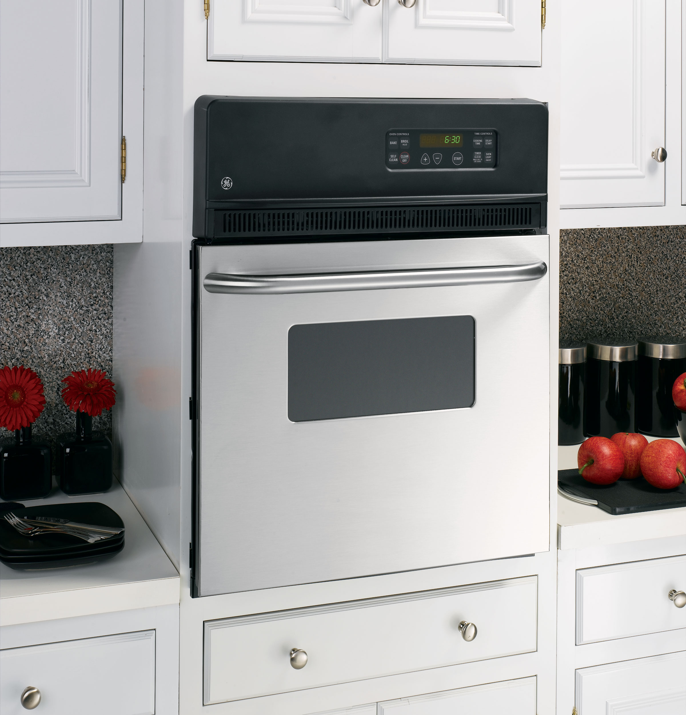 Single Wall Ovens ~ Ge quot electric single self cleaning wall oven