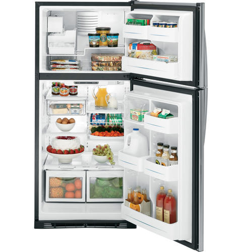 GE Profile™ 17.9 Cu. Ft. Stainless Top-Freezer Refrigerator with Internal Dispenser
