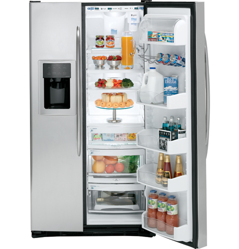 GE Profile™ ENERGY STAR® 25.6 Cu. Ft. Stainless Side-by