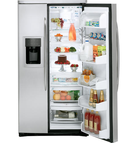 GE Profile™ ENERGY STAR® 25.6 Cu. Ft. Stainless Steel-Wrapped Side-by-Side Refrigerator