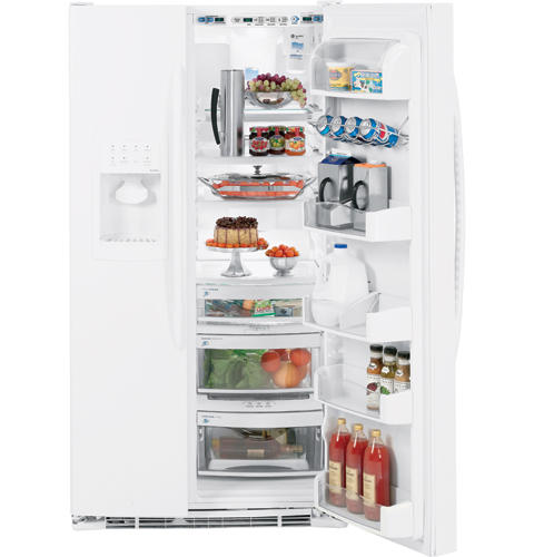 GE Profile™ ENERGY STAR® 25.5 Cu. Ft. Side-by-Side Refrigerator with Integrated Dispenser