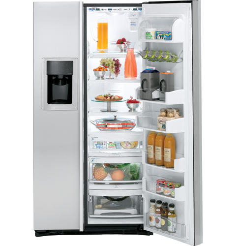 GE Profile Counter-Depth 24.6 Cu. Ft. Stainless Side-by-Side Refrigerator
