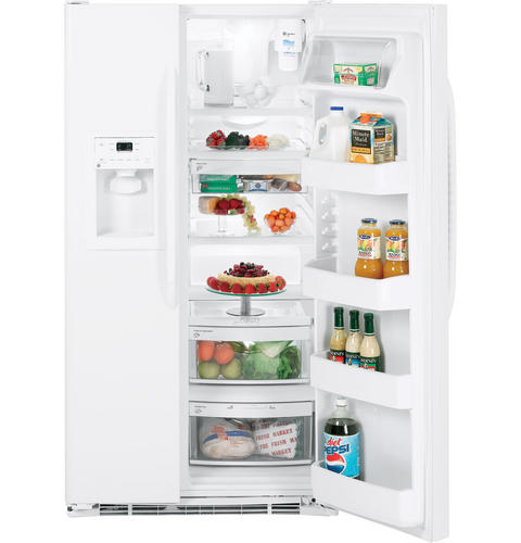 GE® 23.1 Cu. Ft. Side-By-Side Refrigerator with Dispenser