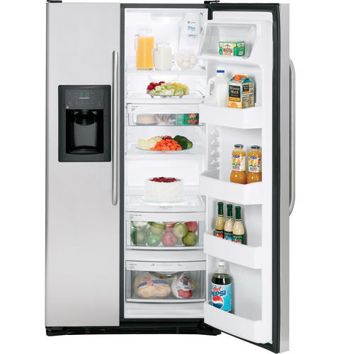 Ft Stainless Side By Refrigerator With Dispenser Gss23wstss Ge Liances