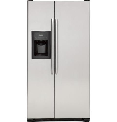 ge® 25 4 cu ft stainless side by side refrigerator product image product image