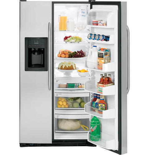 GE Adora™ 25.4 Cu. Ft. Stainless Side-By-Side Refrigerator