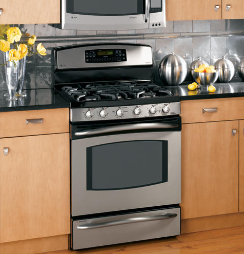 ge profile double oven gas range manual