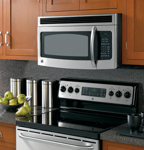 Small space saver over the range microwave homes decoration tips - Red over the range microwave ...