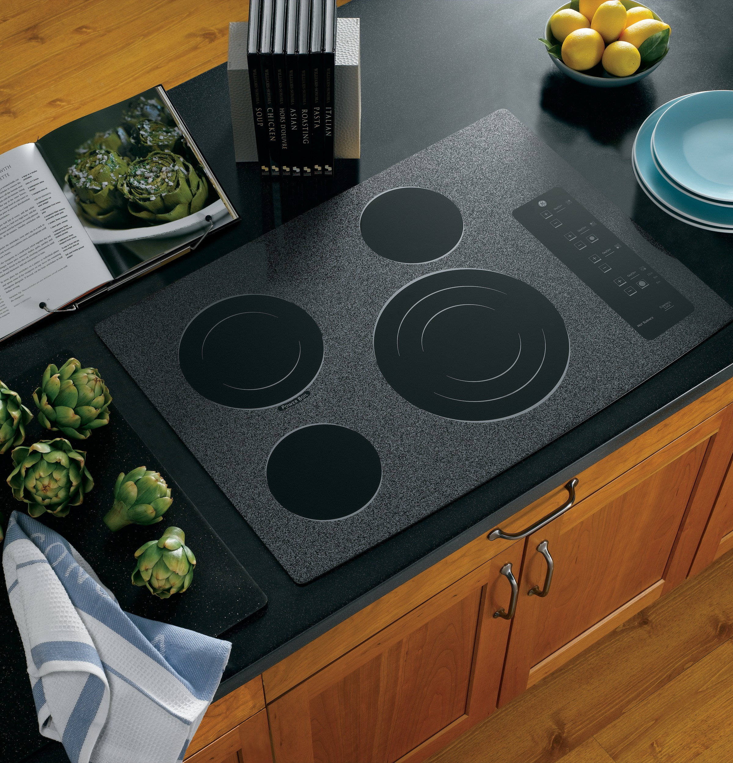 Built In Ge Cooktops ~ Ge profile™ series quot built in electric cooktop