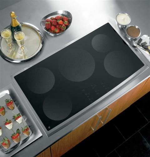 Ge profile series 36 electric induction cooktop php960smss ge appl - Plaque induction design ...