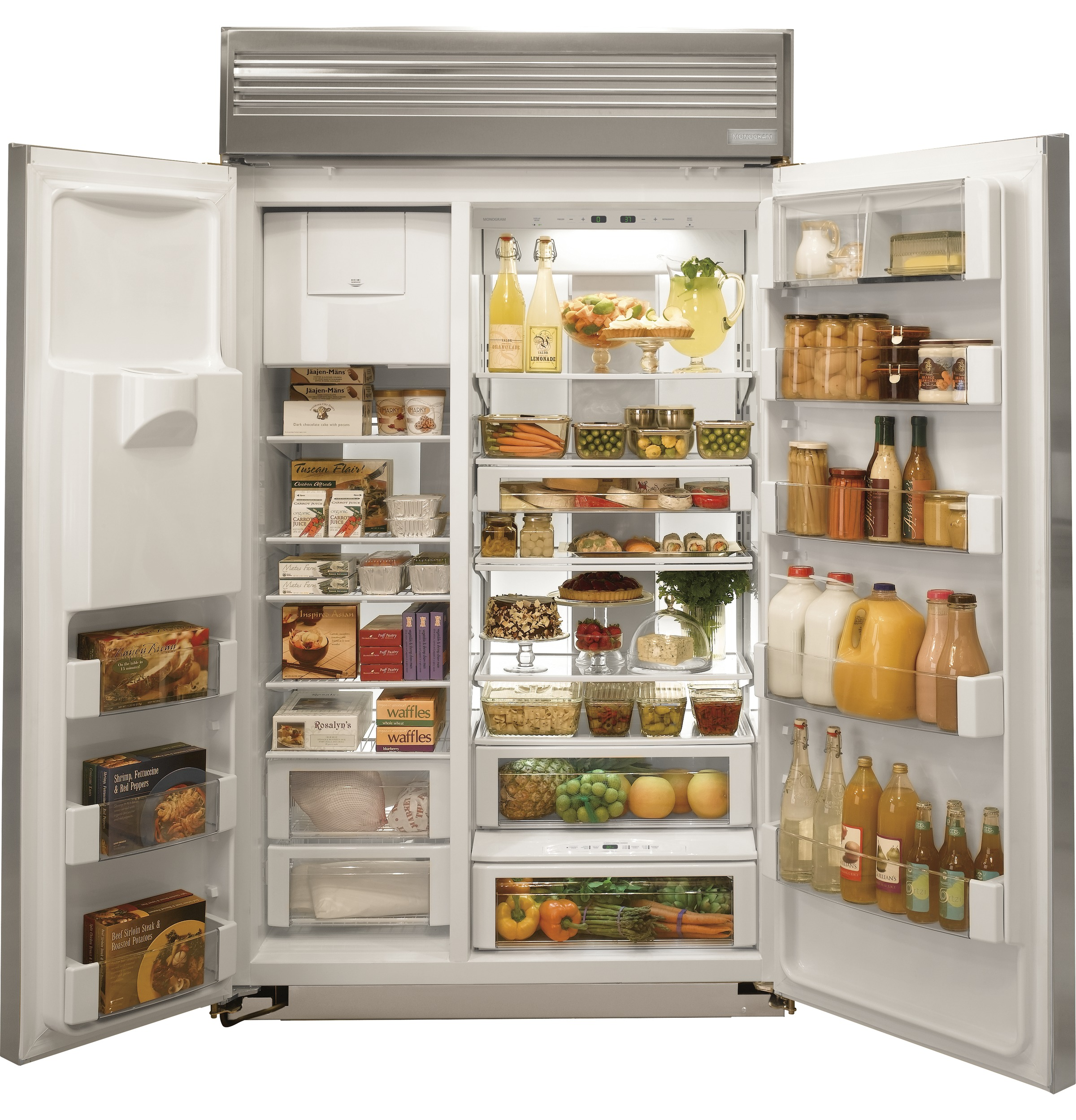 Commercial Refrigerators For Home Use Ge Monogramar 48 Built In Side By Side Refrigerator With Dispenser