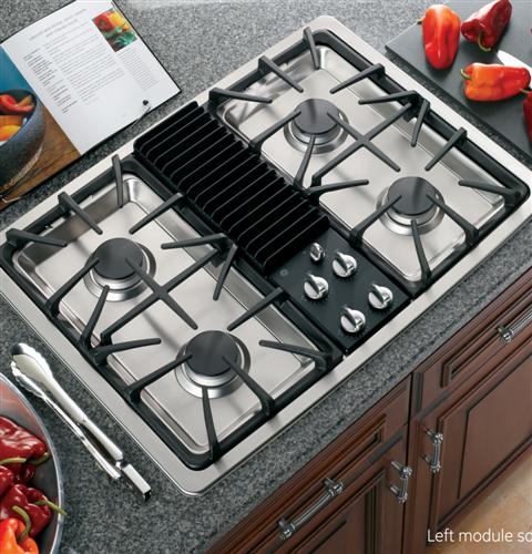 GE Profile™ Series Built-In Downdraft Gas Modular Cooktop ... on