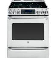 """GE Café™ Series 30"""" Slide-In Front Control Convection Range with Baking Drawer"""
