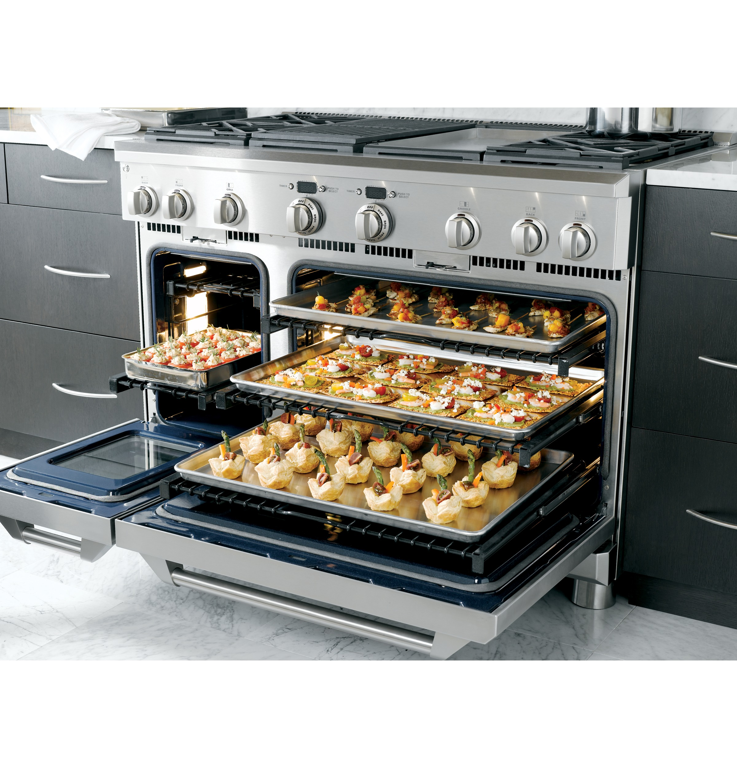 Professional Electric Ranges For The Home Monogram 48 Dual Fuel Professional Range With 4 Burners Grill