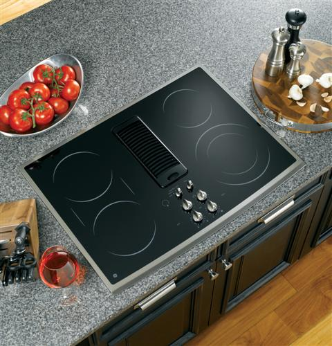 Ge profile series 30 downdraft electric cooktop for 30 inch kitchen island