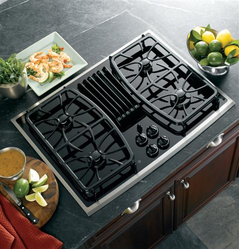 Ge Profile Series 30 Built In Gas Downdraft Cooktop Pgp989snss Liances