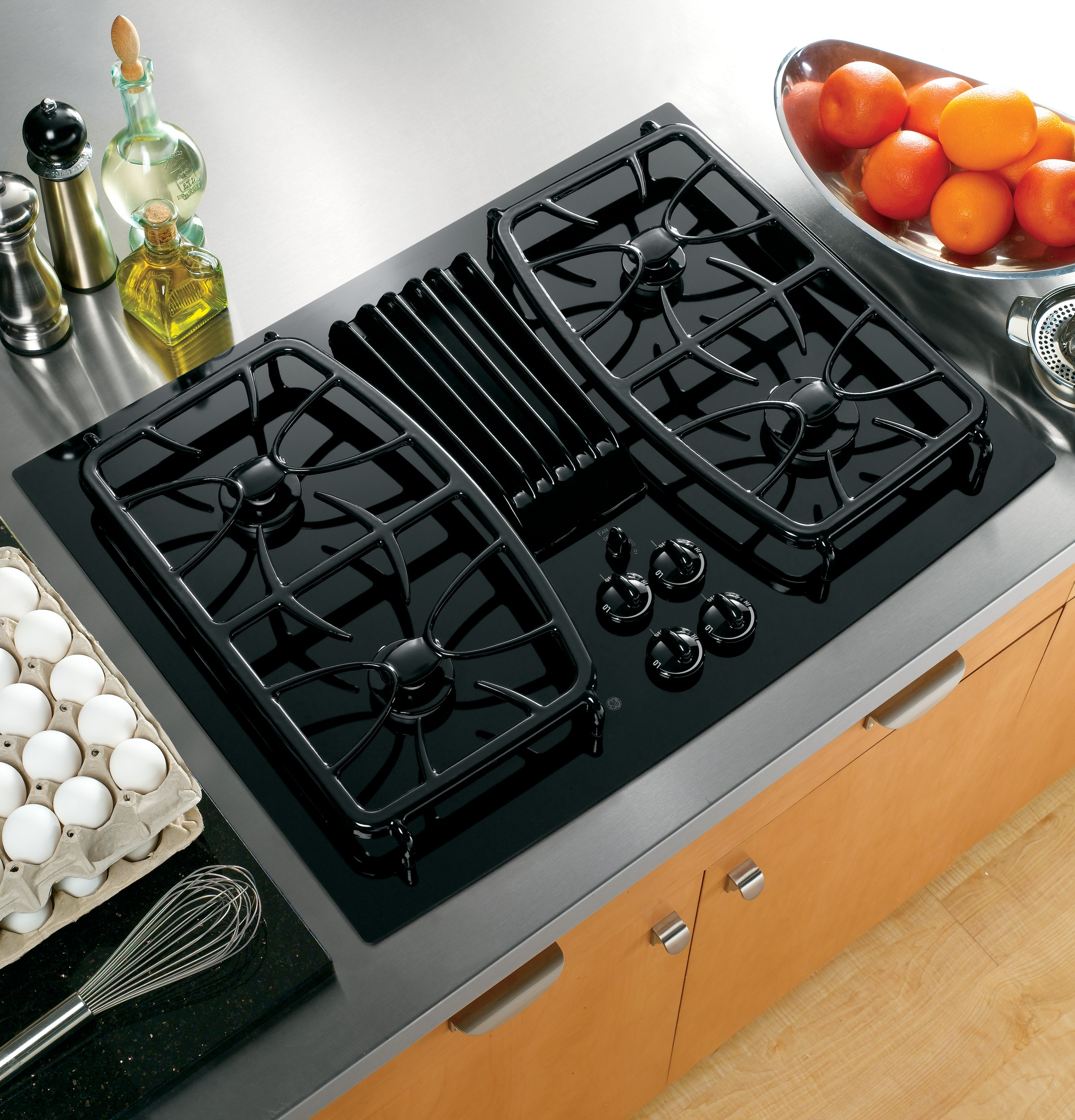 Ge Profile Series 30 Quot Built In Gas Downdraft Cooktop