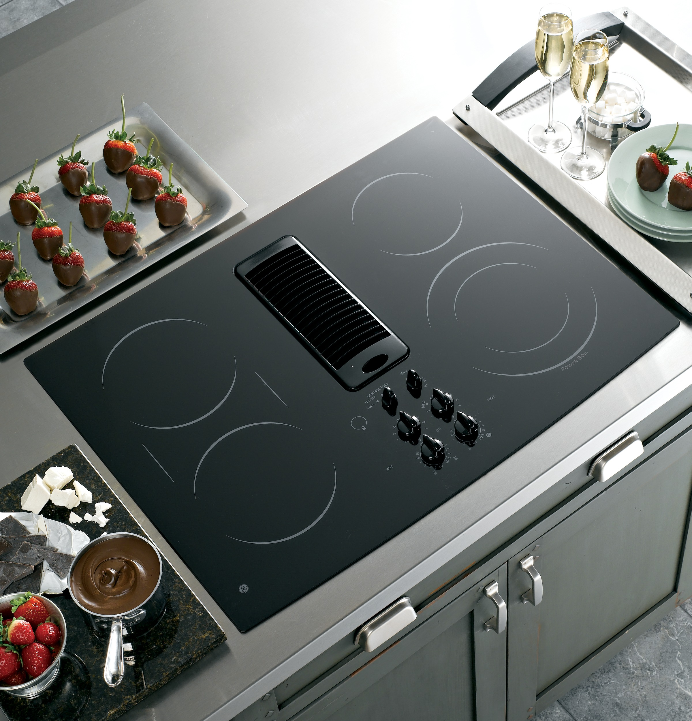 Ge Profile Series 30 Quot Downdraft Electric Cooktop