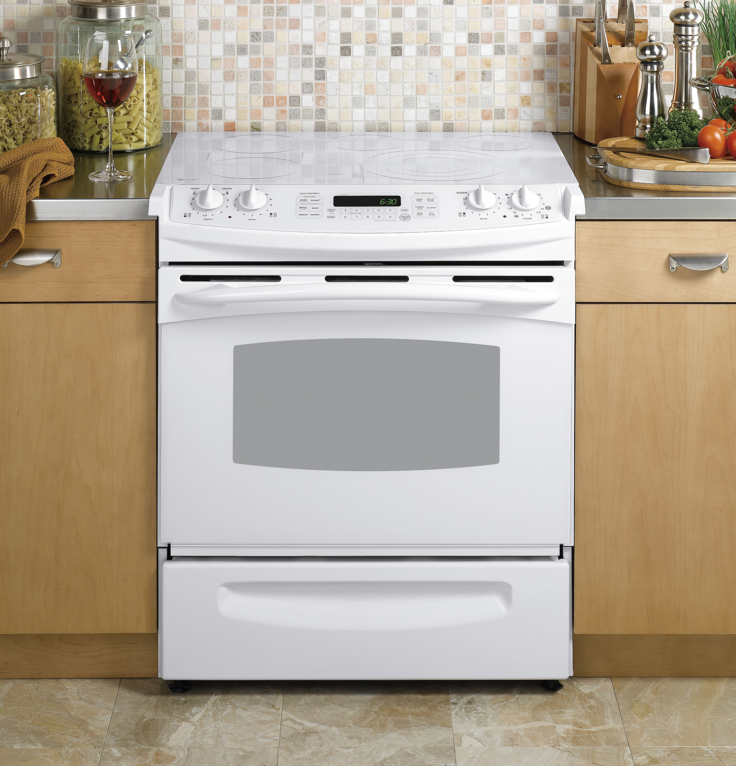 Ge Profile 30 Quot Slide In Electric Range Ps968tpww Ge
