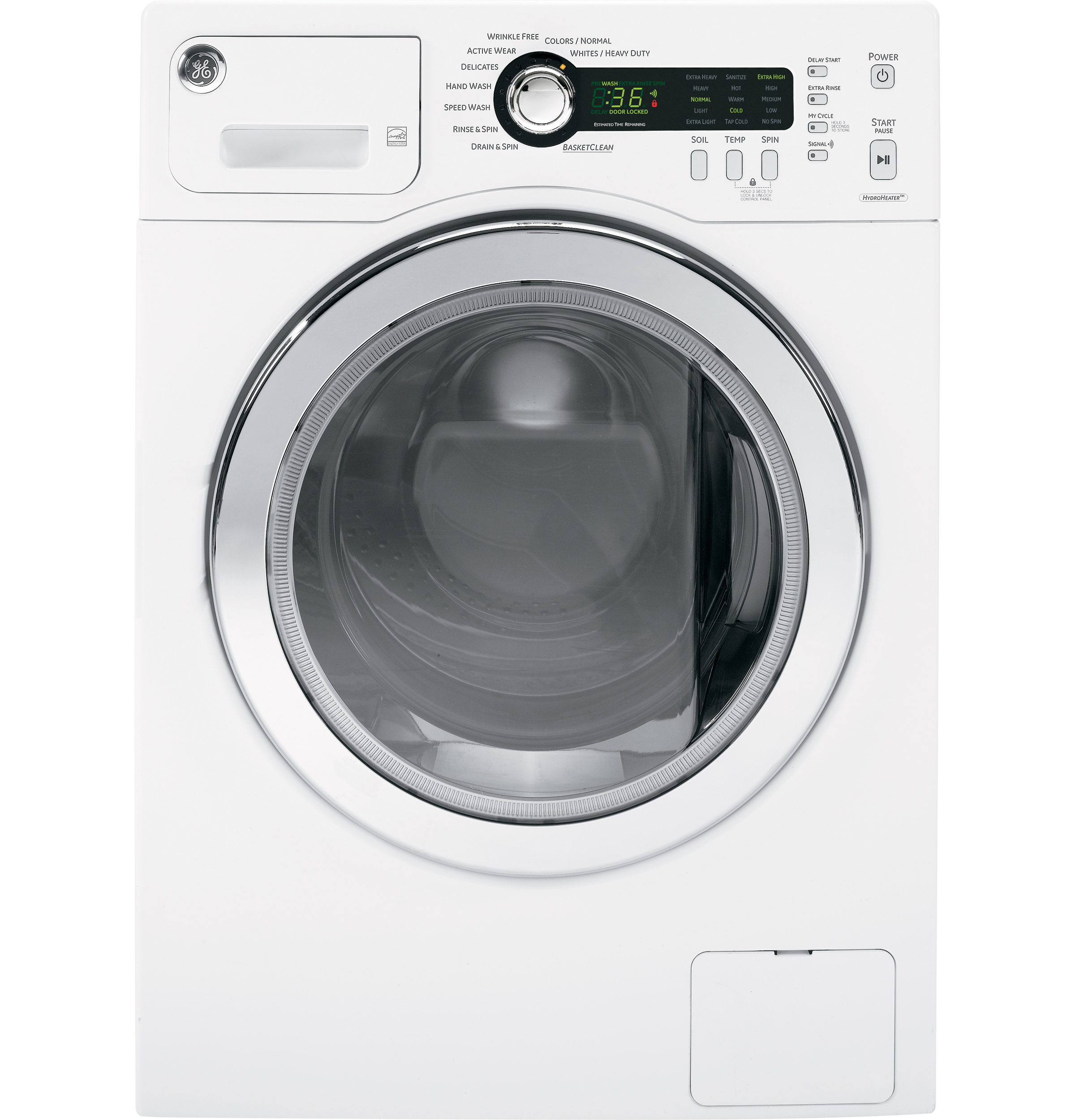 ge® 2 2 doe cu ft frontload washer wcvh4800kww ge appliances product image