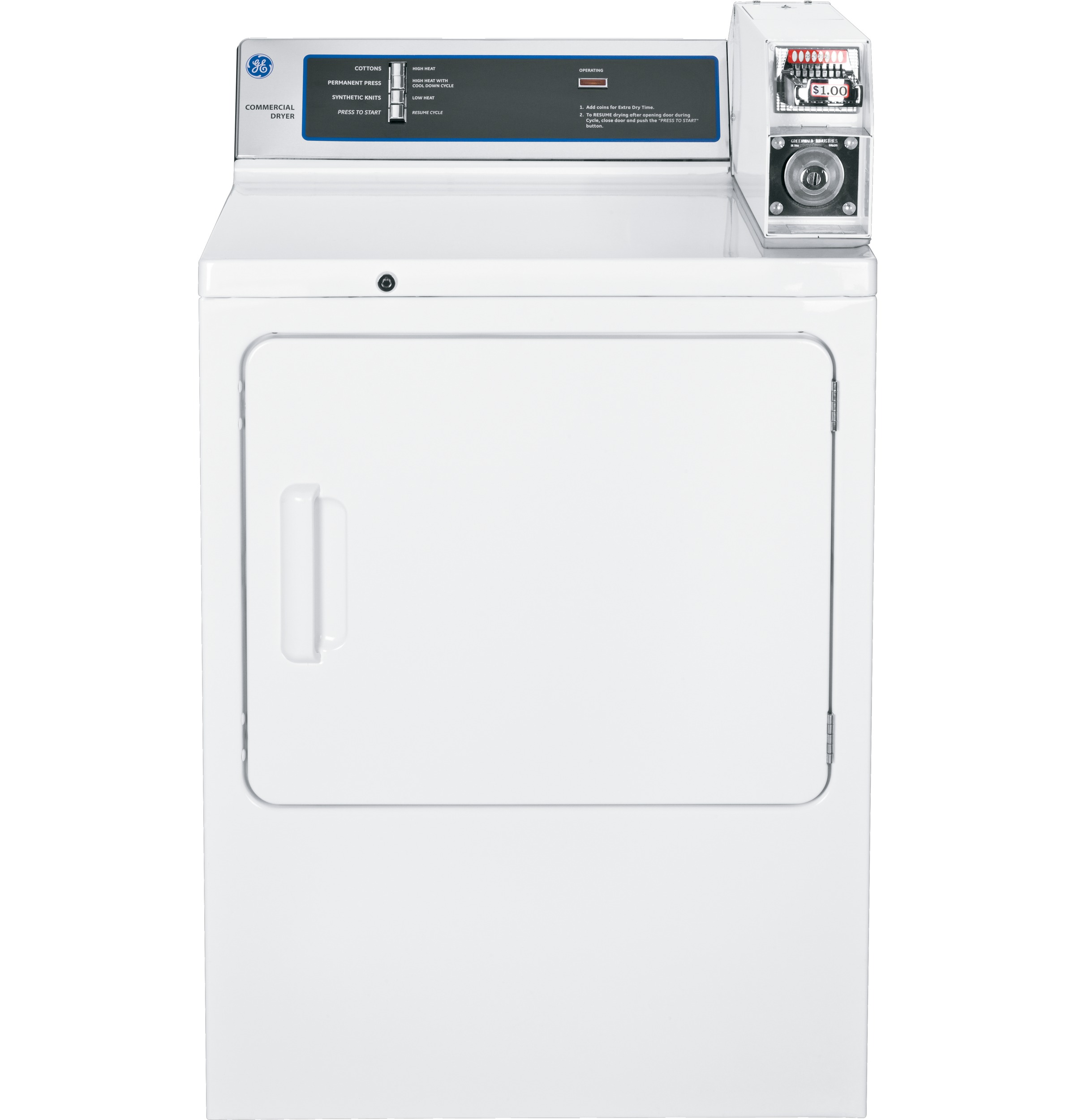 Ge 70 Cu Ft Capacity Coin Operated Electric Dryer Dmcd330ejwc Rapid Wiring Diagram For Stand Product Image