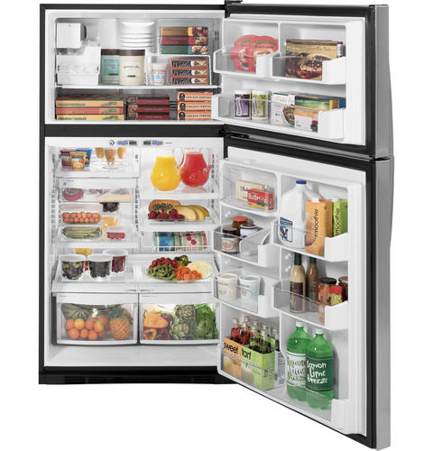 Ge Appliances Ge Profile 24 6 Cu Ft Stainless Top Freezer Refrigerator With Internal