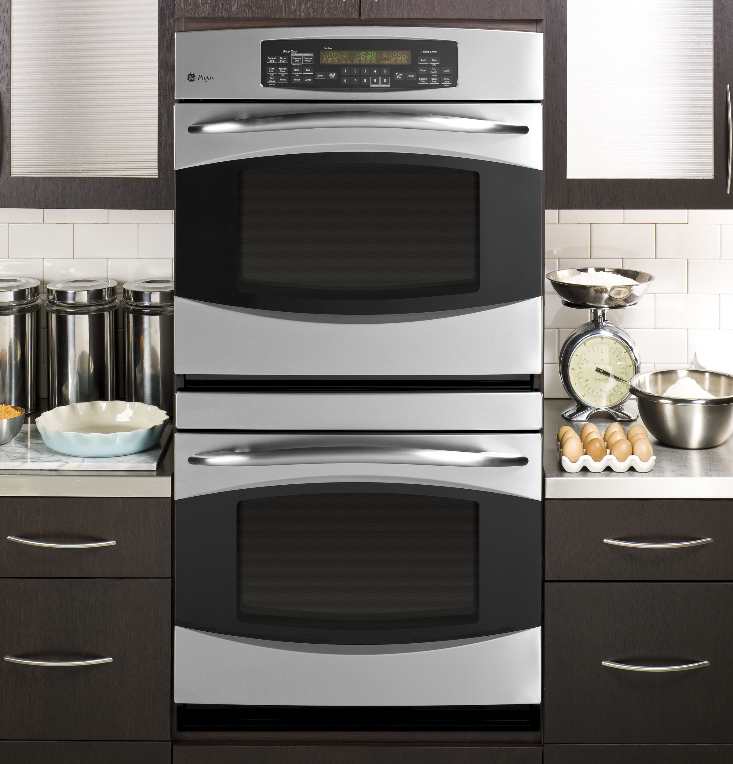 """Kitchen Layout With Double Oven: GE Profile™ 30"""" Built-In Double Convection/Thermal Wall"""
