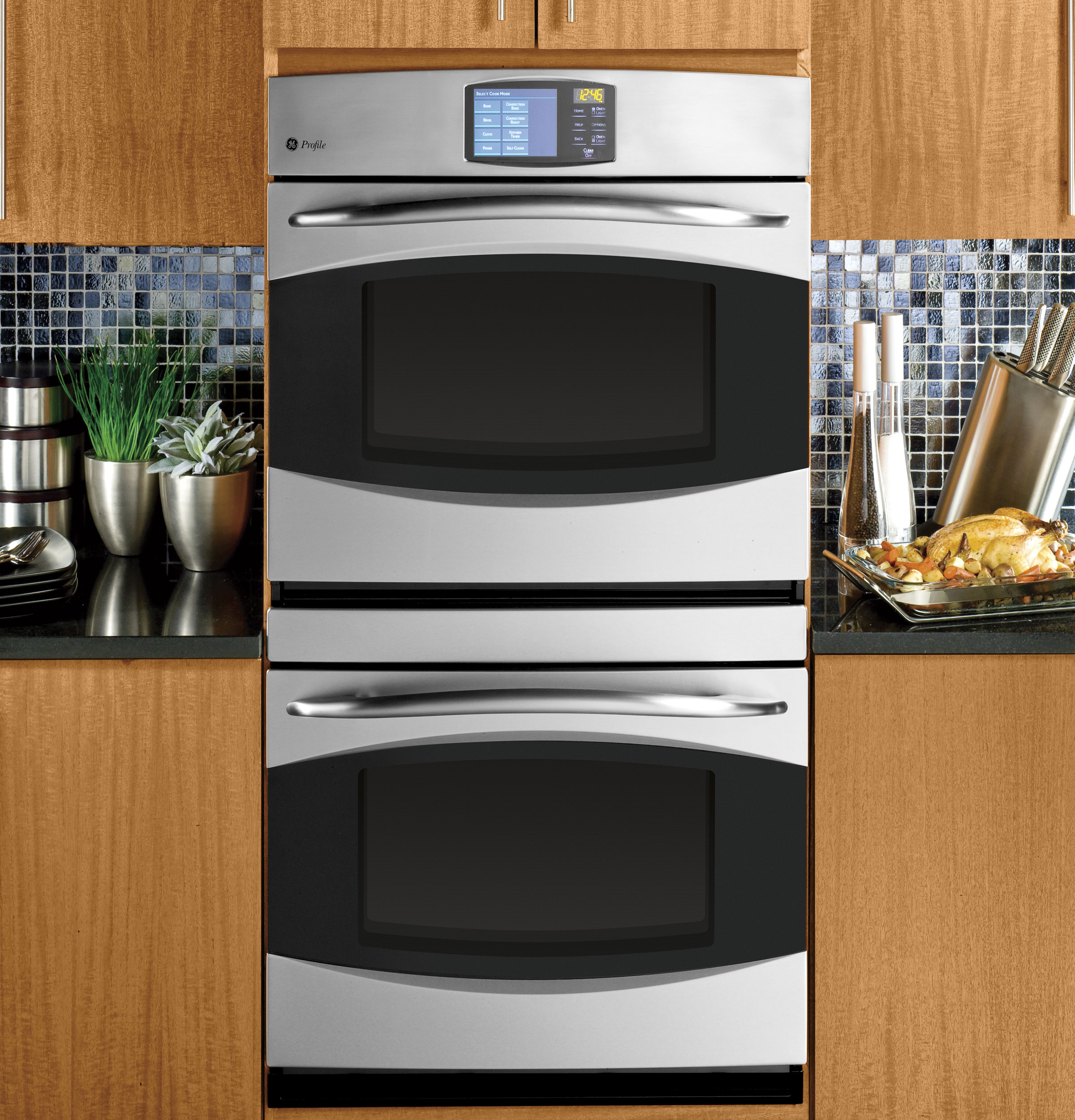 """Kitchen Layout With Double Oven: GE Profile™ 30"""" Built-In Double Convection Wall Oven"""