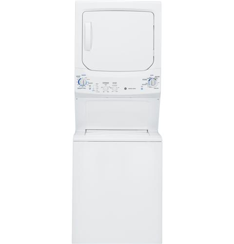 GE Unitized Spacemaker® 3.4 DOE cu. ft. stainless steel Washer and 5.9 cu. ft. Electric Dryer