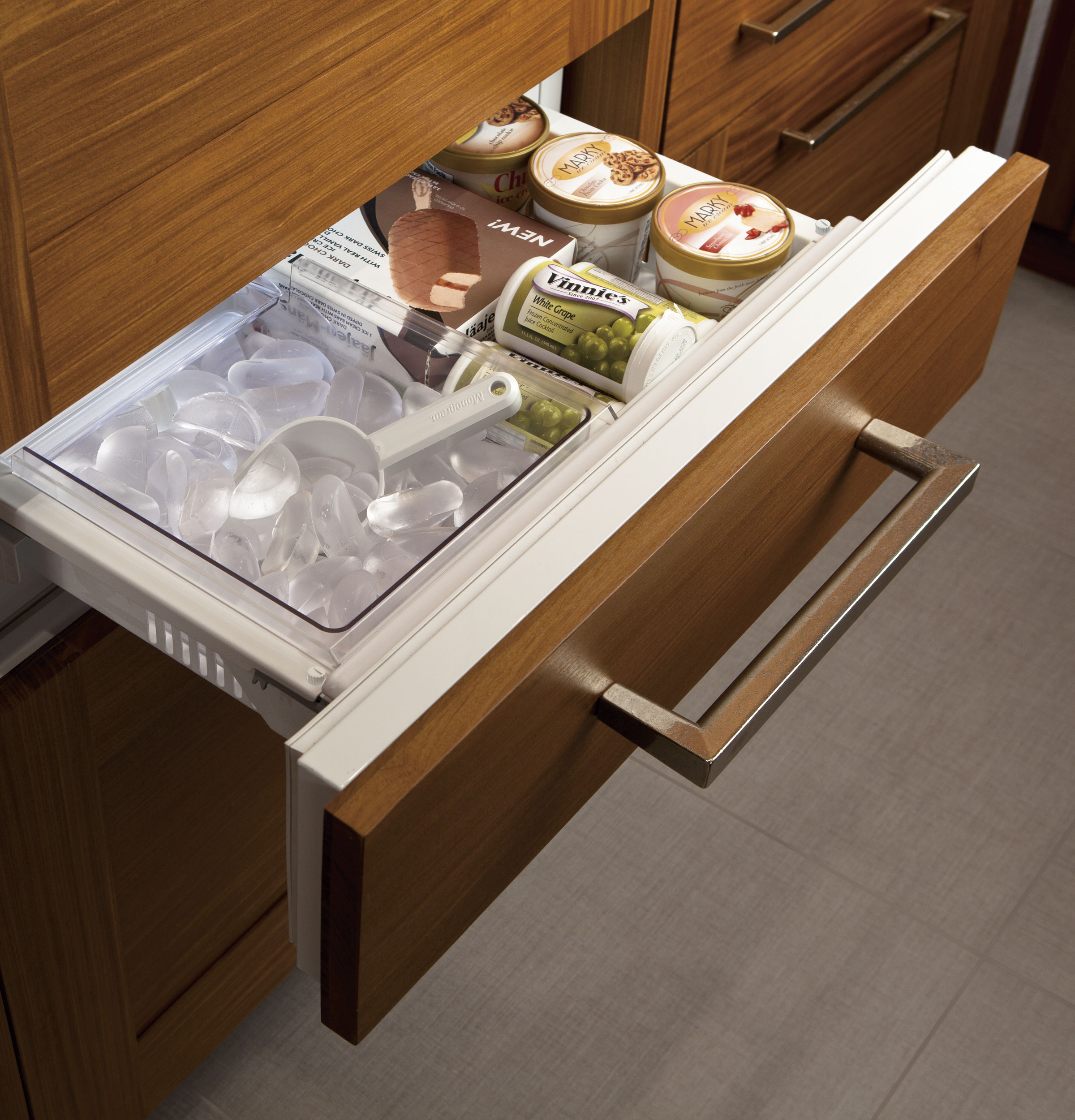 residence air double decor your throughout to jenn fridge kitchen chic applied drawers refrigerator drawer