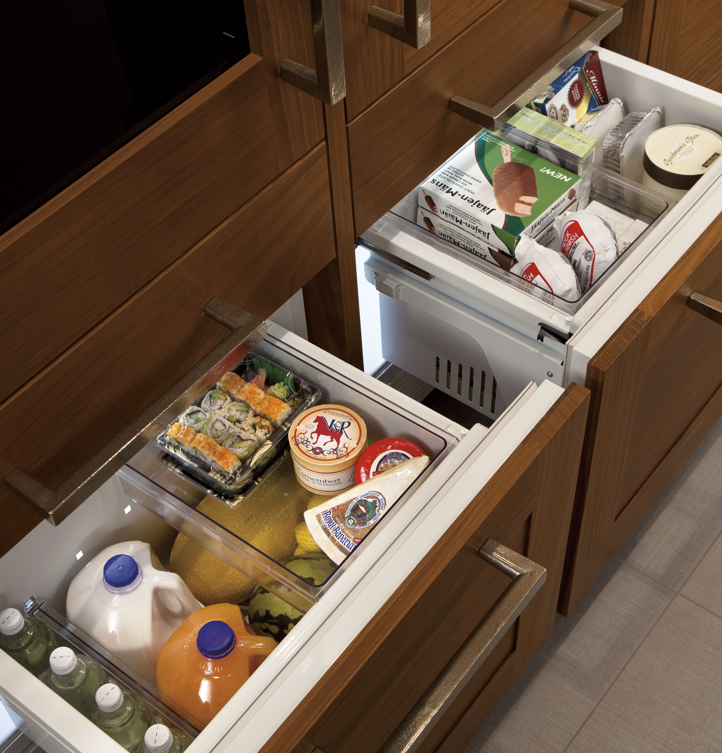 ft refrigerator drawer counter single double under catalog the