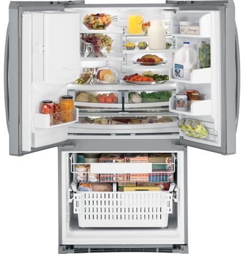 Ge Profile Energy Star 251 Cu Ft French Door Refrigerator