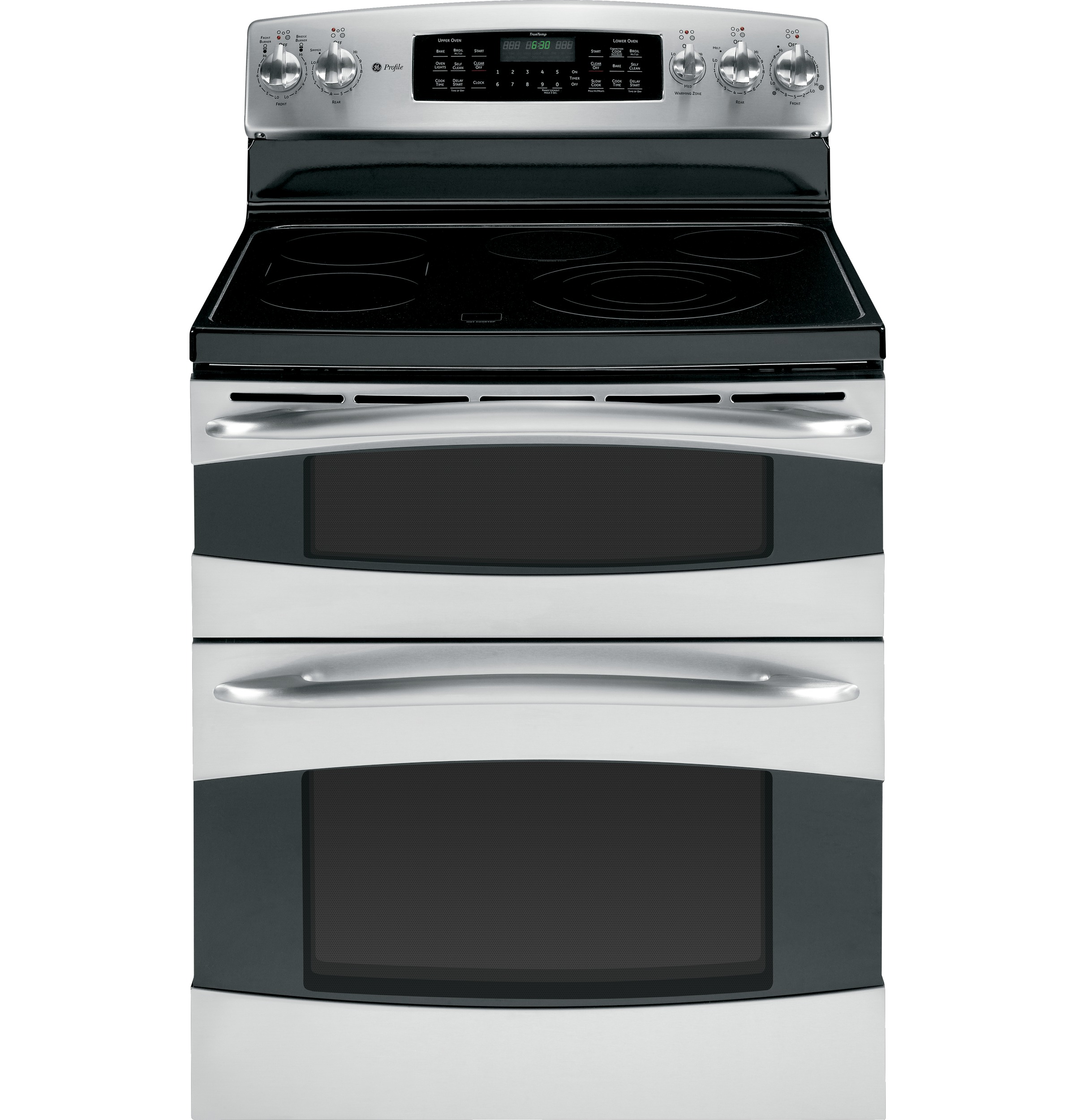 New Ge 30 Profile Electric Double Oven Range Stainless W