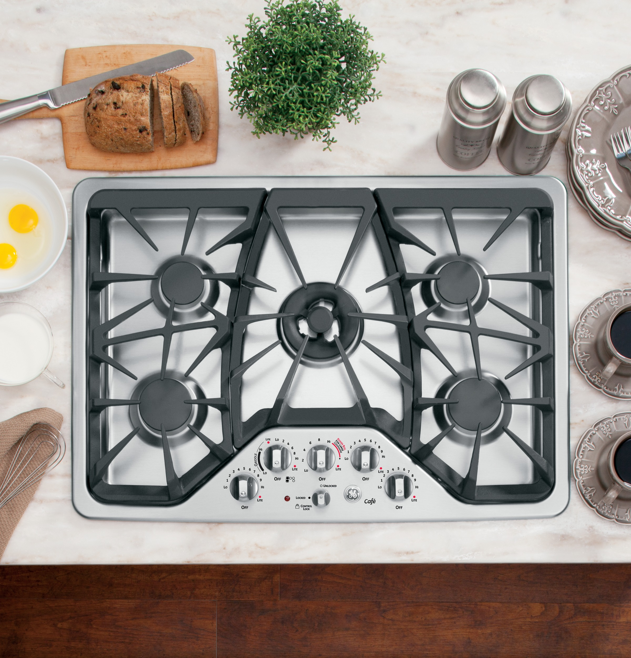 Ge Caf 233 Series 30 Quot Built In Gas Cooktop Cgp350setss