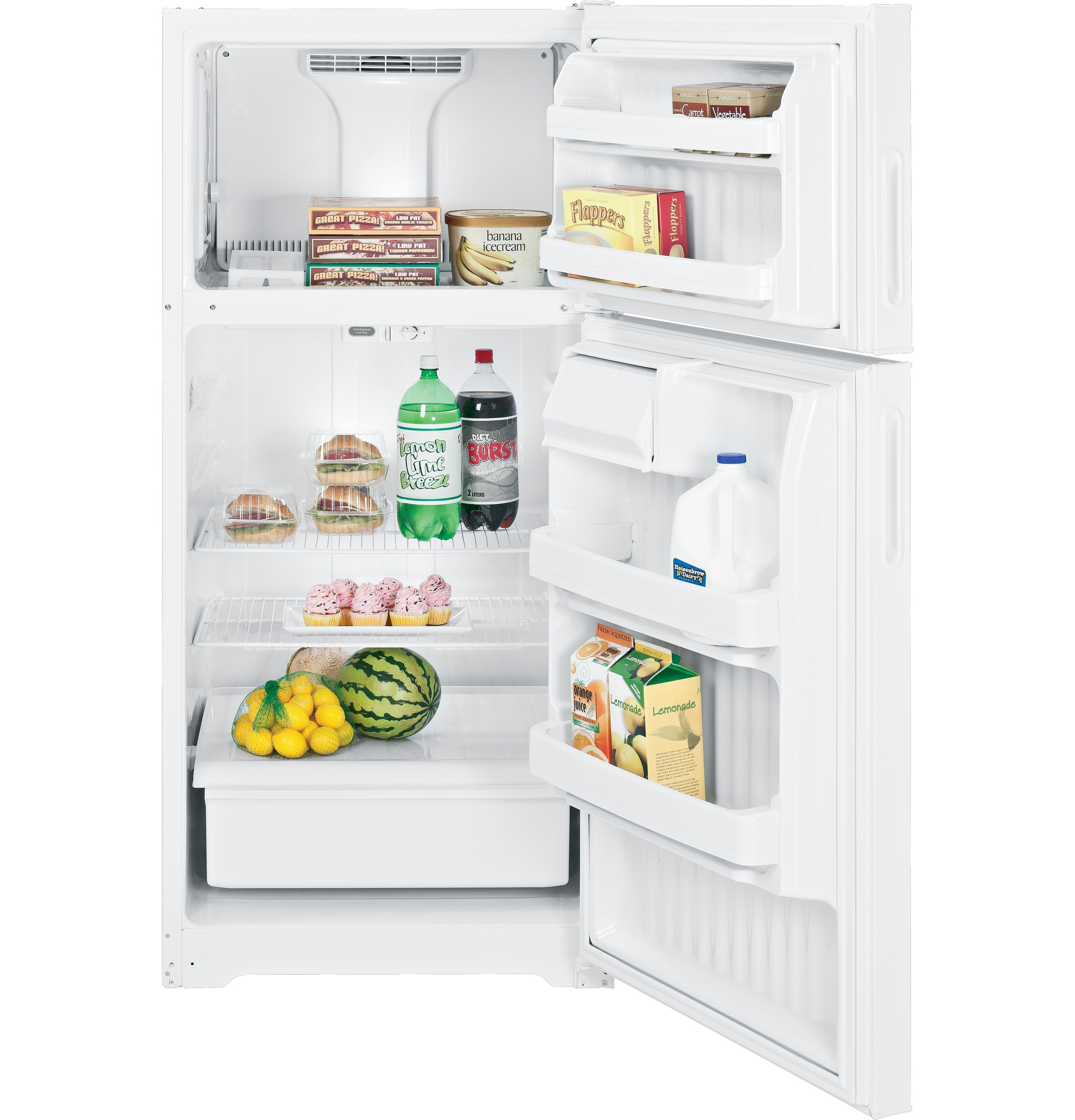 Hotpoint 156 cu ft top freezer refrigerator htr16absrww ge product image product image publicscrutiny Choice Image
