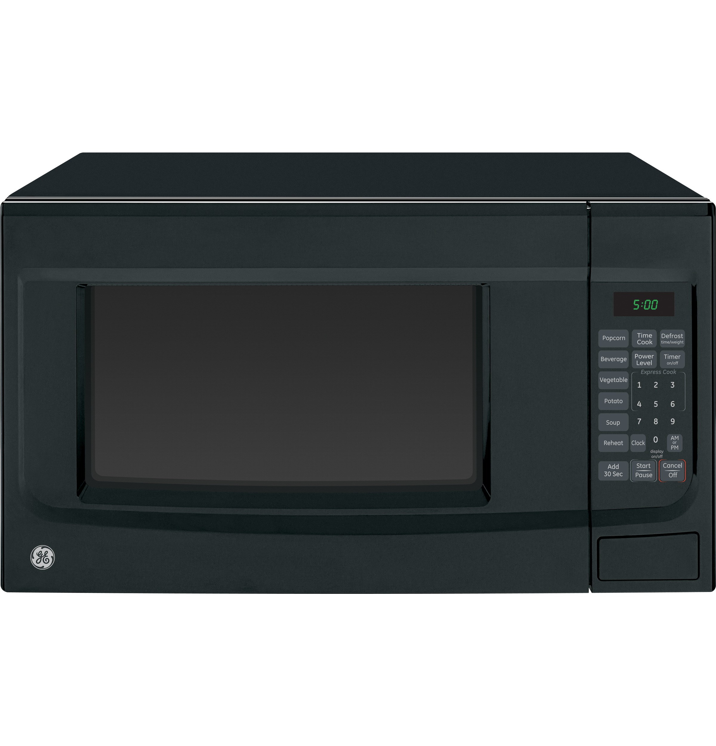 Countertop Microwave Dimensions : GE? 1.4 Cu. Ft. Countertop Microwave Oven JES1451DSBB GE ...