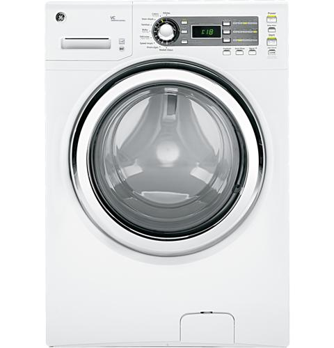 GE® ENERGY STAR® 4.1 DOE cu. ft. capacity frontload washer with steam– Model #: GFWS1500DWW