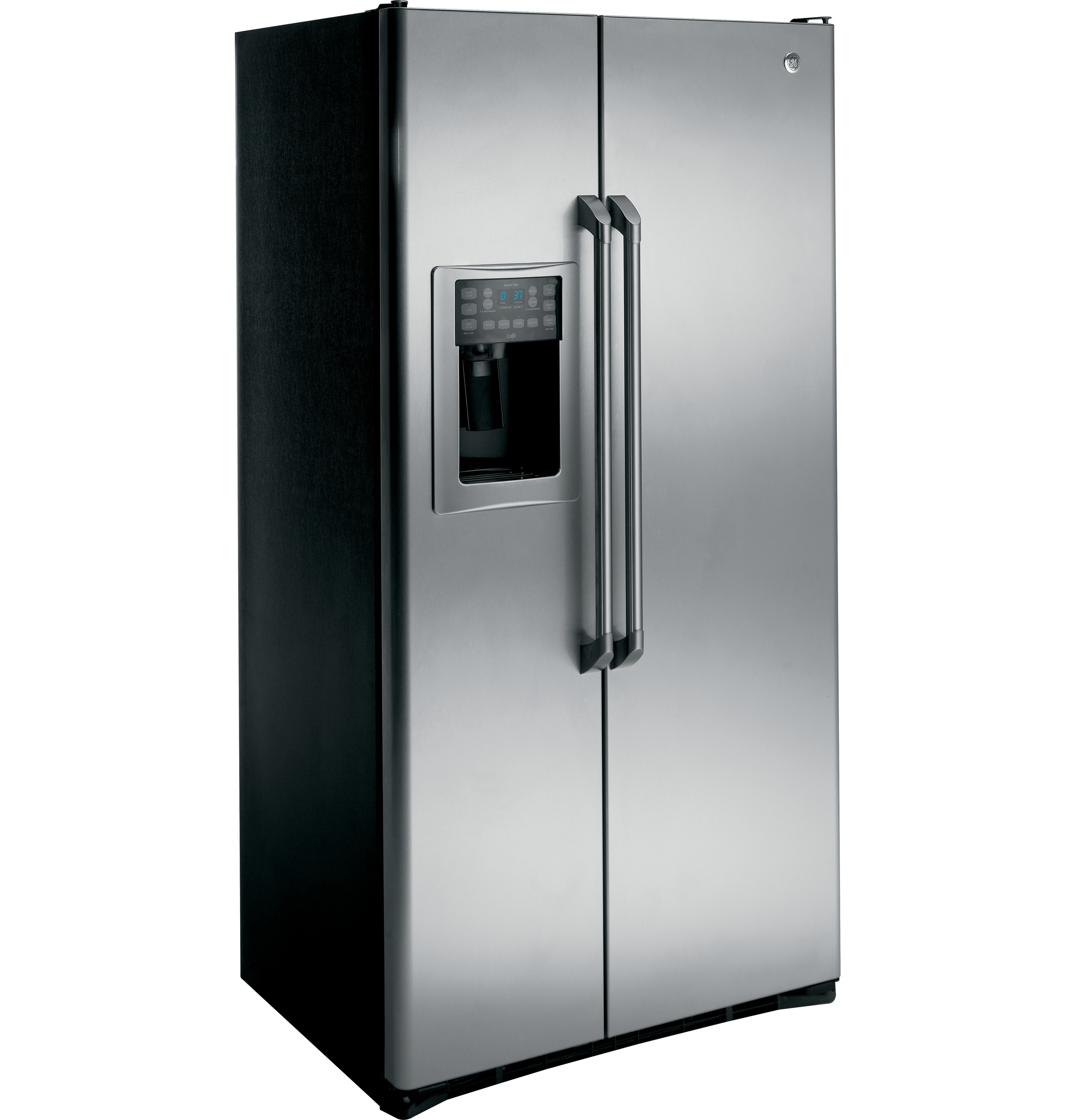 Ge 30 inch side by side white refrigerator - 1 Of 10